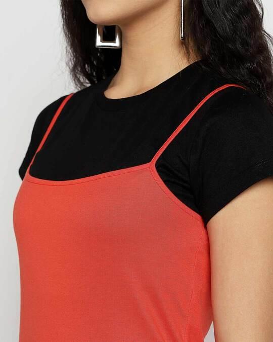 Shop Smoke Red Slip T-Shirt Dress