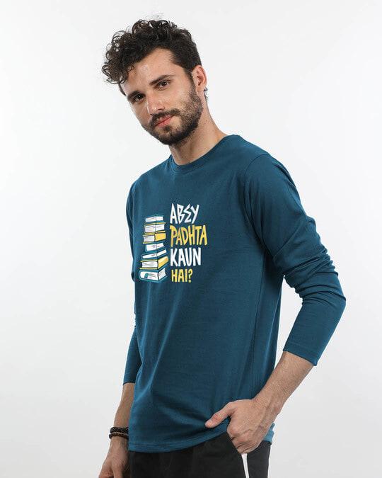 Shop Padhta Kaun Hai? Full Sleeve T-Shirt-Back
