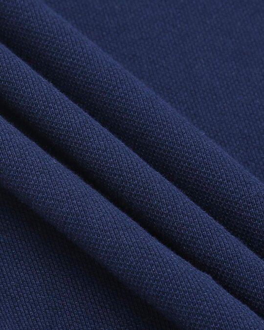 Shop Pageant Blue Half Sleeve Raglan Shoulder Cut & Sew Polo