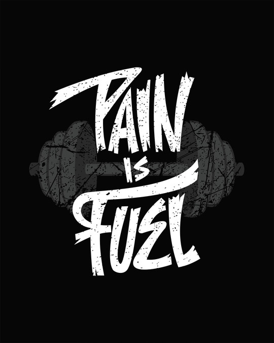 Shop Pain Is Fuel Full Sleeve T-Shirt
