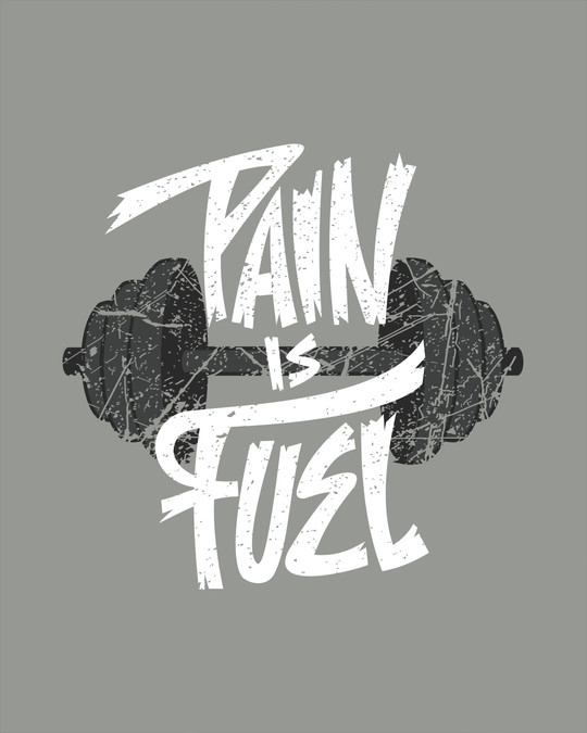 Shop Pain Is Fuel Full Sleeve T-Shirt-Full