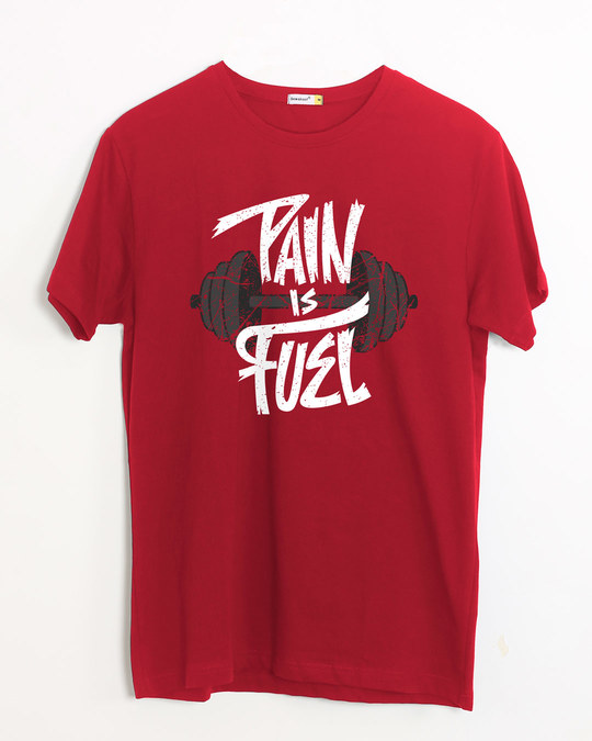 Shop Pain Is Fuel Half Sleeve T-Shirt-Front