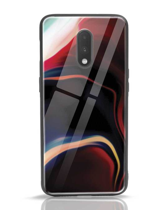 Shop Paint Swirls OnePlus 7 Glass Mobile Cover-Front