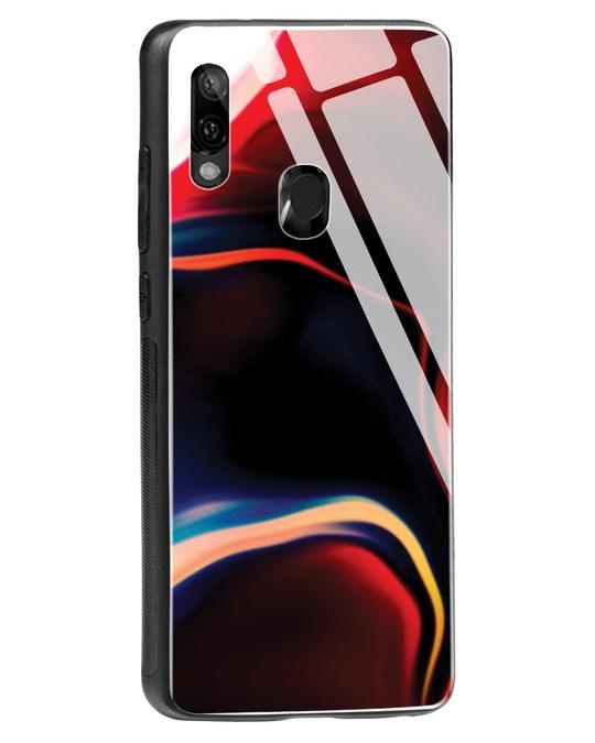 Shop Paint Swirls Xiaomi Redmi Note 7 Glass Mobile Cover-Back