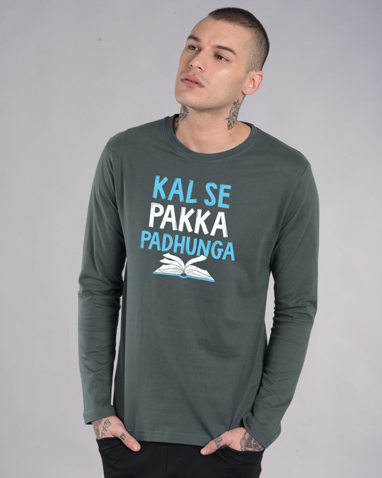 Shop Pakka Padhunga Full Sleeve T-Shirt-Front