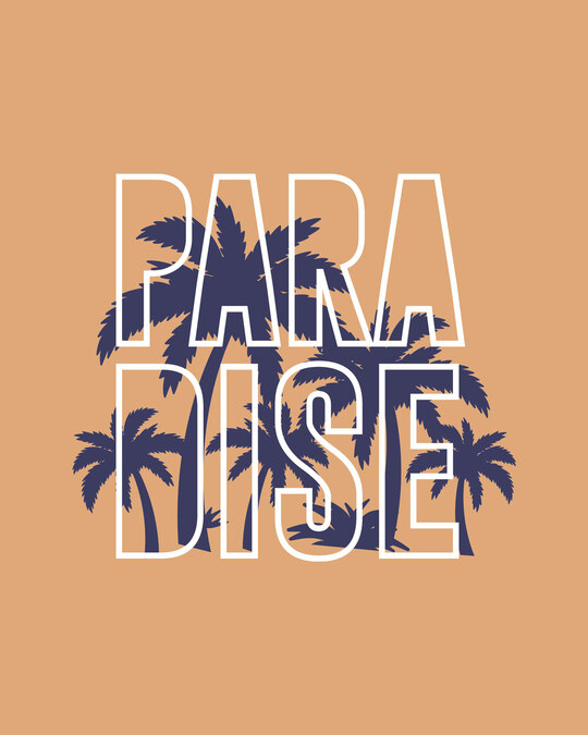 Shop Palm Paradise Boyfriend T-Shirt-Full