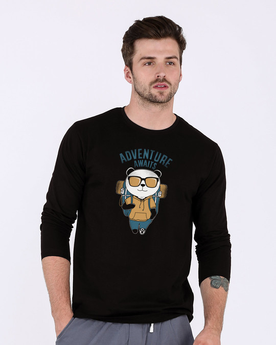 Shop Panda Adventure Full Sleeve T-Shirt-Front
