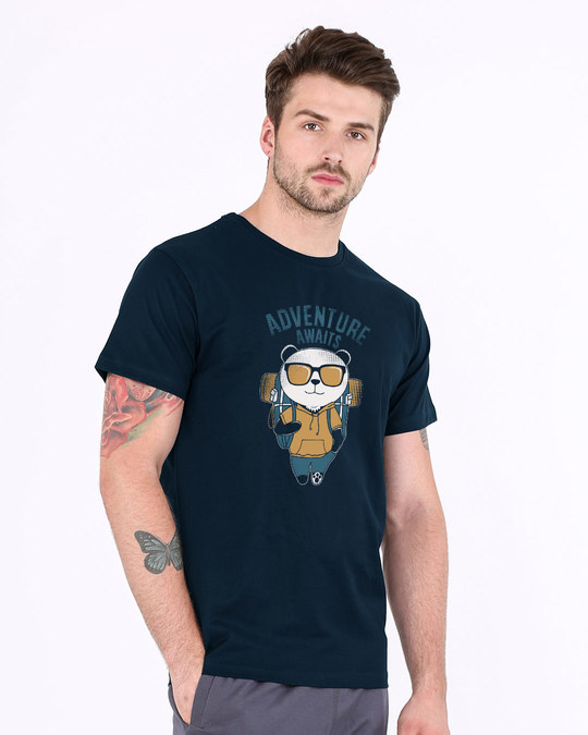 Shop Panda Adventure Half Sleeve T-Shirt-Full
