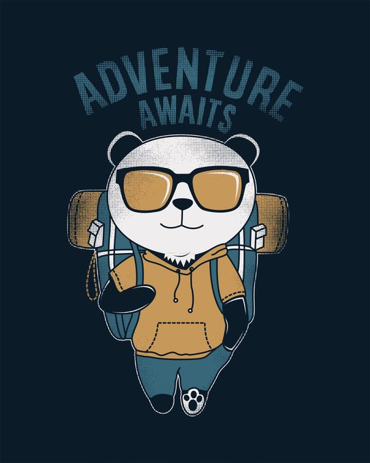 Shop Panda Adventure Half Sleeve T-Shirt