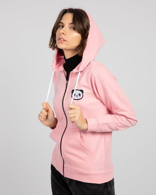 Shop Panda Badge Zipper Hoodie-Design