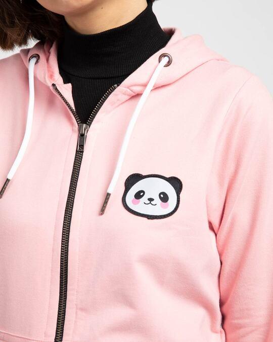 Shop Panda Badge Zipper Hoodie