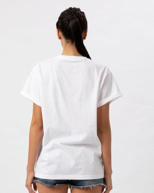 Shop Panda Bow Boyfriend T-Shirt-Full