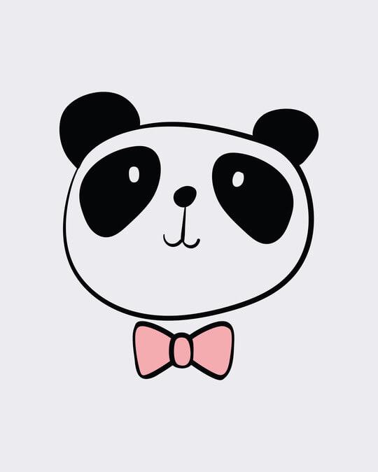 Shop Panda Bow Boyfriend T-Shirt