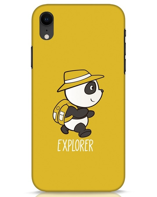 Shop Panda Explorer iPhone XR Mobile Cover-Front