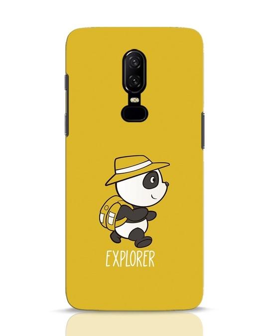 Shop Panda Explorer OnePlus 6 Mobile Cover-Front