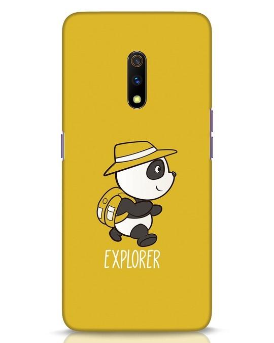 Shop Panda Explorer Realme X Mobile Cover-Front