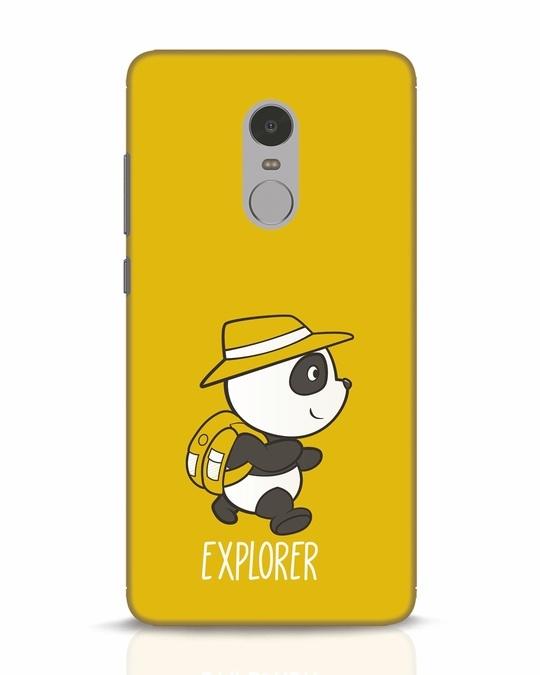 Shop Panda Explorer Xiaomi Redmi Note 4 Mobile Cover-Front