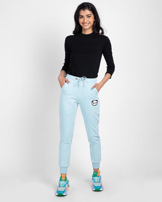 Shop Panda Face Casual Badge Jogger Pants-Full