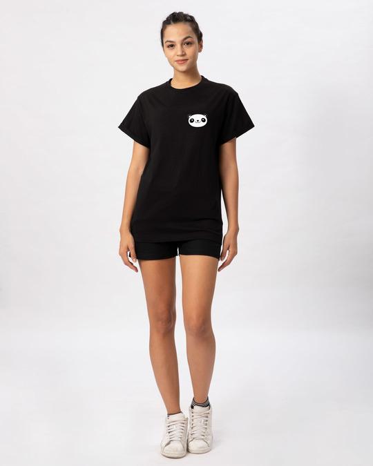 Shop Panda Face Pocket Boyfriend T-Shirt