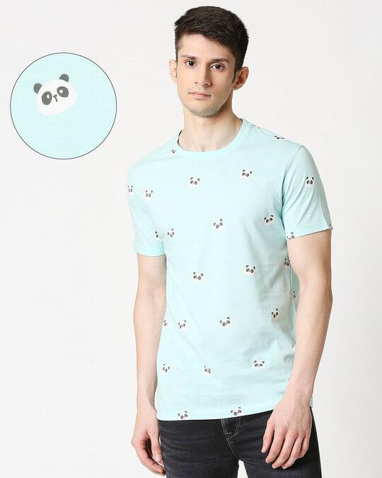 Shop Panda Fun AOP Half Sleeve T-Shirt-Front