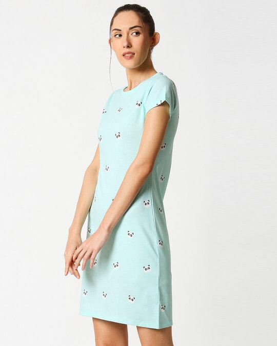 Shop Panda Fun Aop T-Shirt Dress-Design
