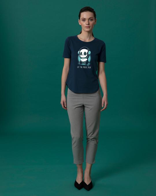 Shop Panda Headphones Basic Round Hem T-Shirt