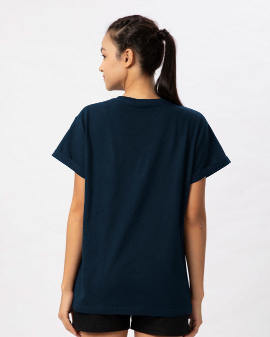 Shop Panda Headphones Boyfriend T-Shirt-Full