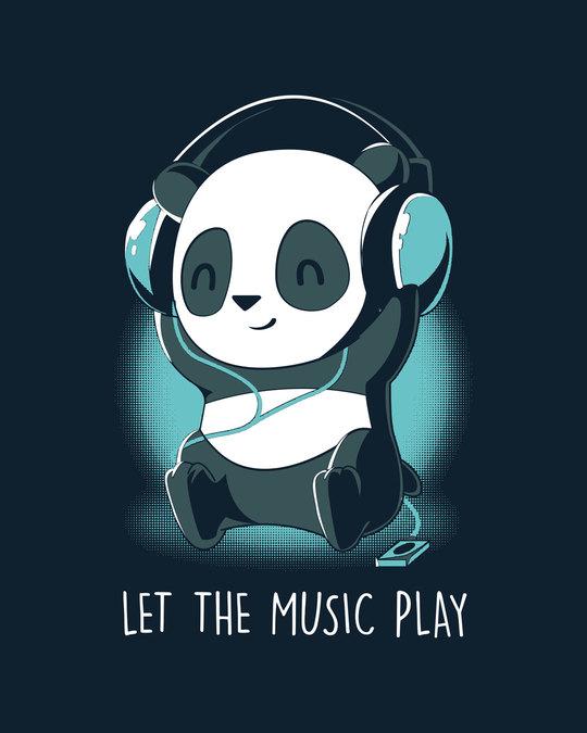 Shop Panda Headphones Boyfriend T-Shirt