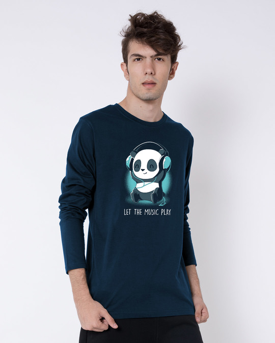 Shop Panda Headphones Full Sleeve T-Shirt-Back