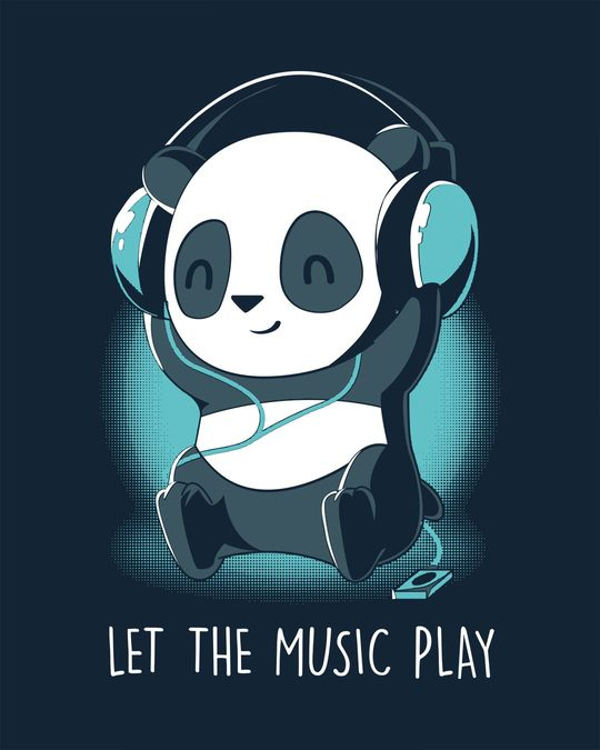 Shop Panda Headphones Full Sleeve T-Shirt
