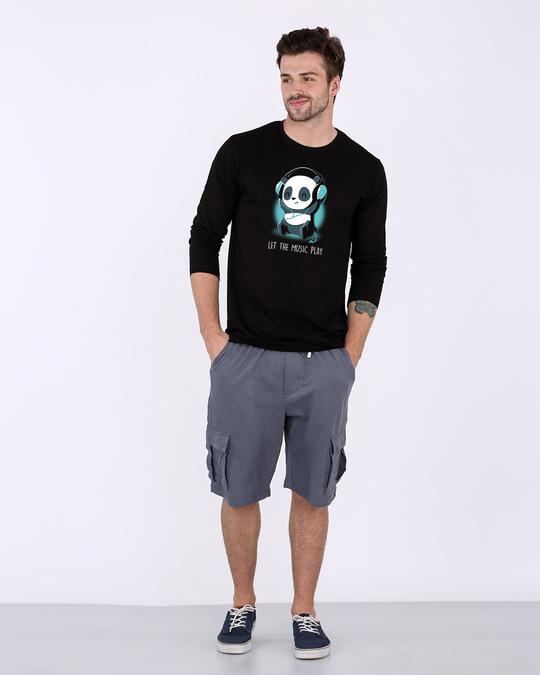 Shop Panda Headphones Full Sleeve T-Shirt-Full