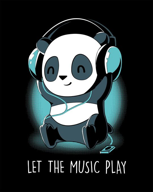 Shop Panda Headphones Half Sleeve T-Shirt