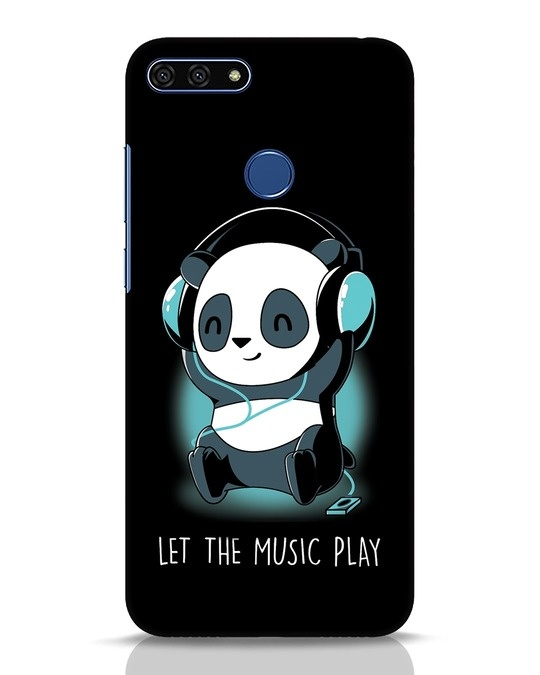 Shop Panda Headphones Huawei Honor 7A Mobile Cover-Front