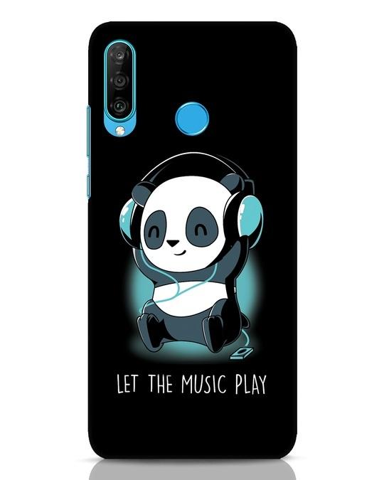Shop Panda Headphones Huawei P30 Lite Mobile Cover-Front