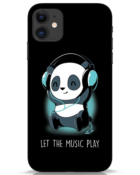 Shop Panda Headphones iPhone 11 Mobile Cover-Front