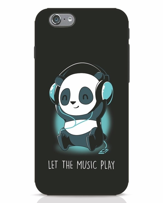 Shop Panda Headphones iPhone 6s Mobile Cover-Front