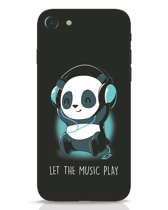 buy popular 92176 1e4c3 Panda Headphones iPhone 7 Mobile Cover