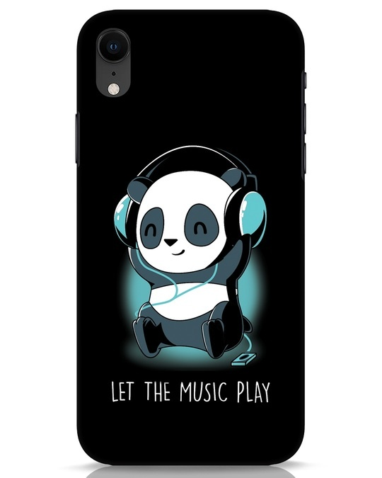 Shop Panda Headphones iPhone XR Mobile Cover-Front