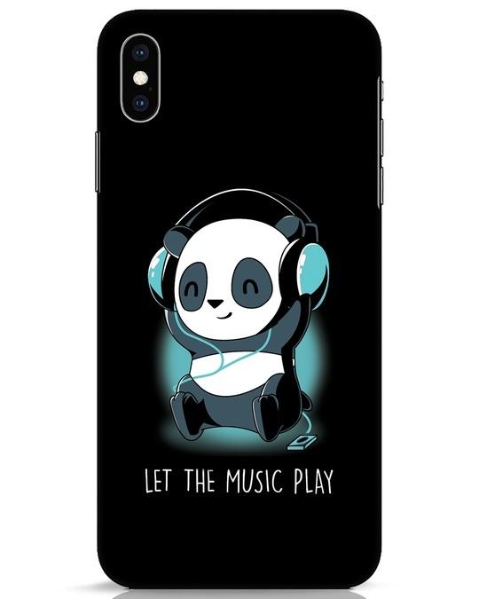 Shop Panda Headphones iPhone XS Max Mobile Cover-Front
