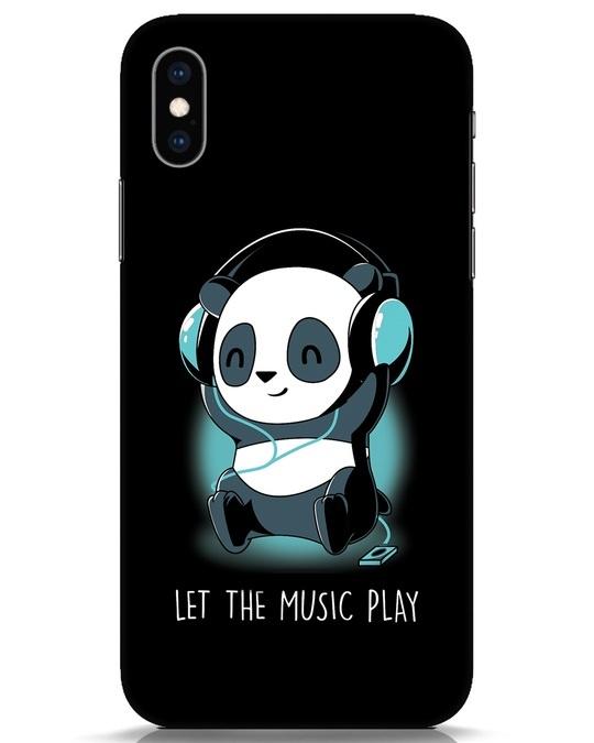 Shop Panda Headphones iPhone XS Mobile Cover-Front