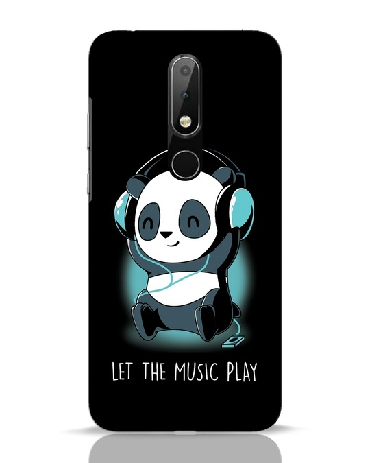Shop Panda Headphones Nokia 6.1 Plus Mobile Cover-Front