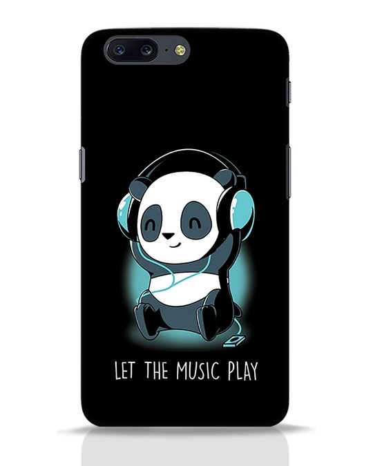 Shop Panda Headphones OnePlus 5 Mobile Cover-Front