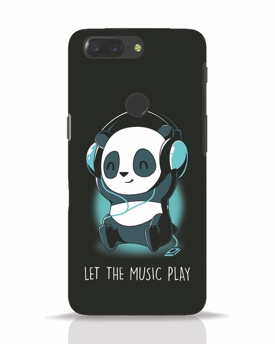 Shop Panda Headphones OnePlus 5T Mobile Cover-Front
