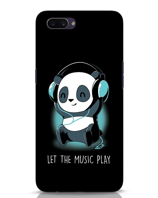 Shop Panda Headphones Oppo A3S Mobile Cover-Front