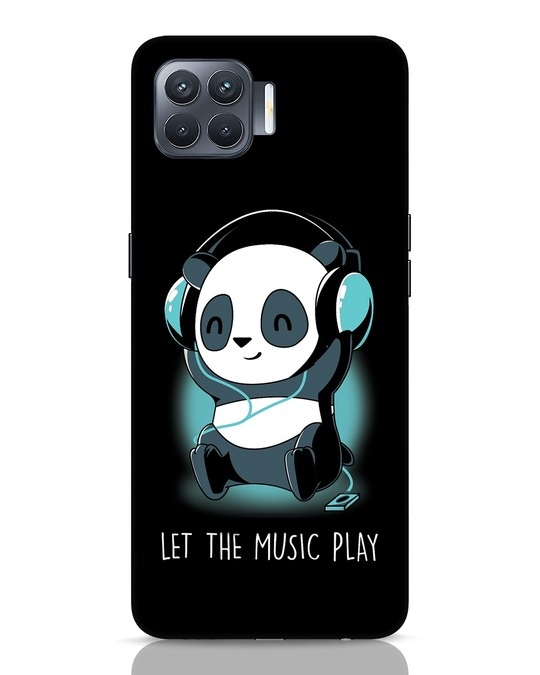 Shop Panda Headphones Oppo F17 Pro Mobile Cover-Front