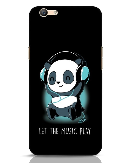 Shop Panda Headphones Oppo F1s Mobile Cover-Front