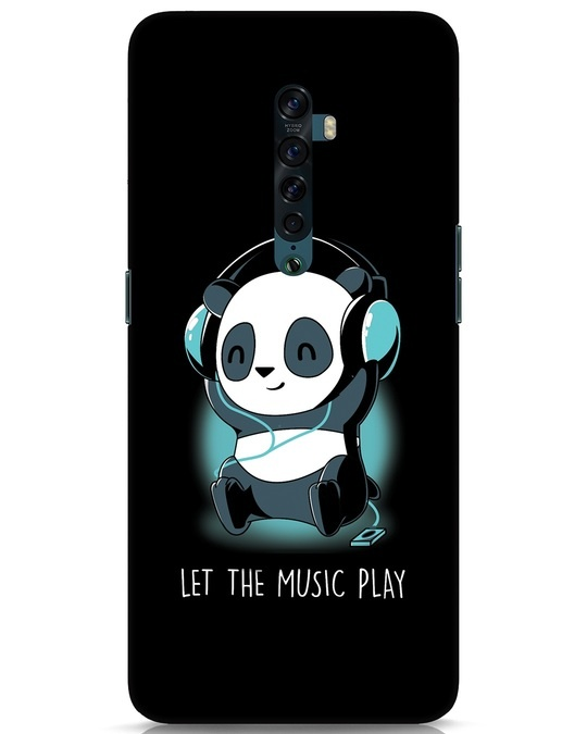 Shop Panda Headphones Oppo Reno 2 Mobile Cover-Front
