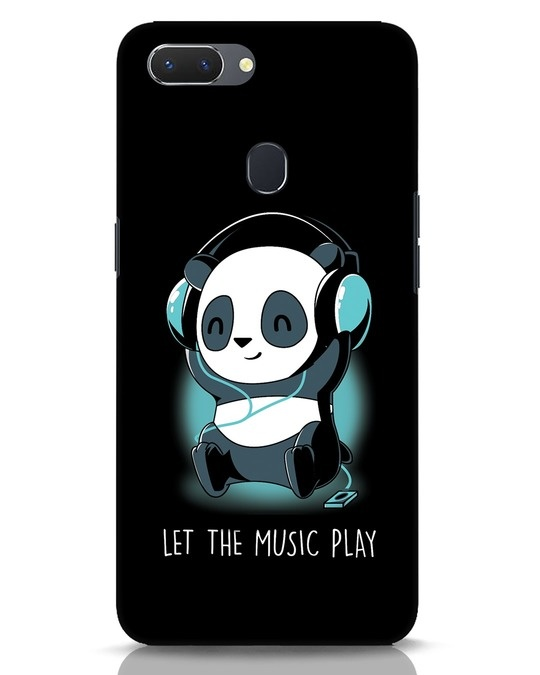 Shop Panda Headphones Realme 2 Mobile Cover-Front
