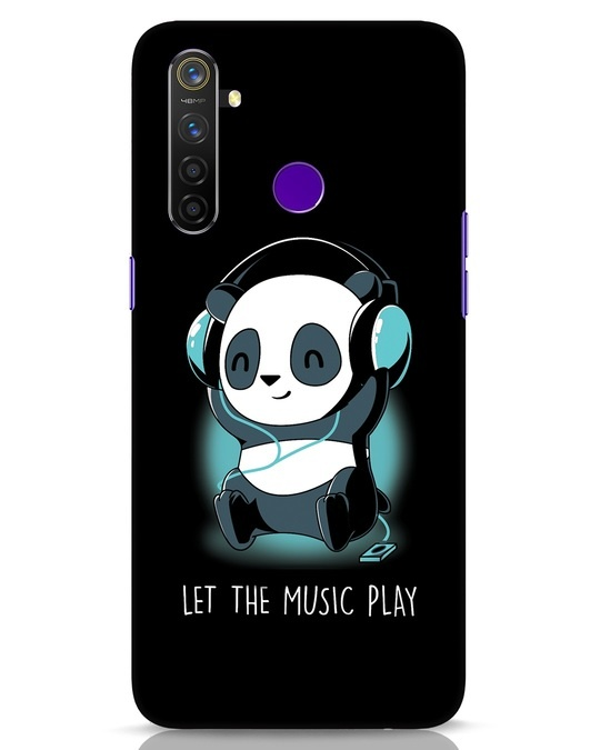 Shop Panda Headphones Realme 5 Pro Mobile Cover-Front