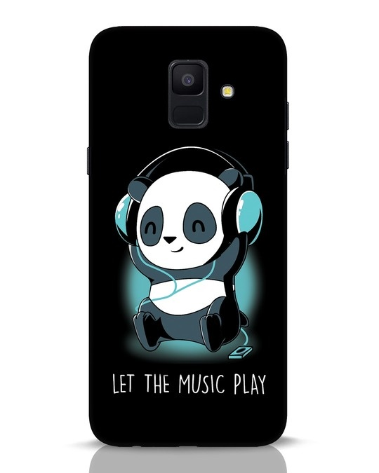 Shop Panda Headphones Samsung Galaxy A6 2018 Mobile Cover-Front